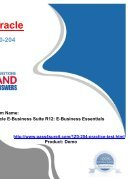 Pass4sure Oracle 1Z0-204 Exam Quick Study - Page 5