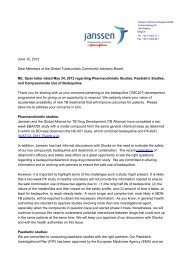 RE: Open letter dated May 24, 2012 regarding - TB Online