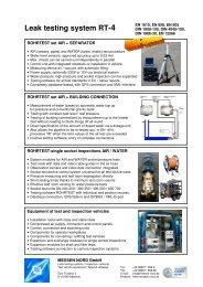 ROHRTEST-4 - Tightness test system for waste water systems: sewer test, pipe test, shaft test, seperator test, tank test, junction test