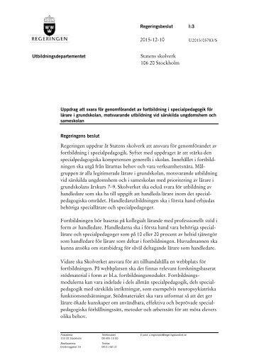 uppdrag-att-svara-for-genomforandet-av-fortbildning-i-specialpedagogik-for-larare-i-grundskolan-motsvarande-utbildning-vid-sarskilda-ungdomshem-och-sameskolan