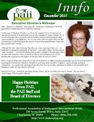 PAII Innfo Newsletter December 2015