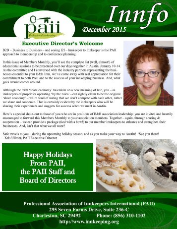 PAII Innfo Newsletter December 2015