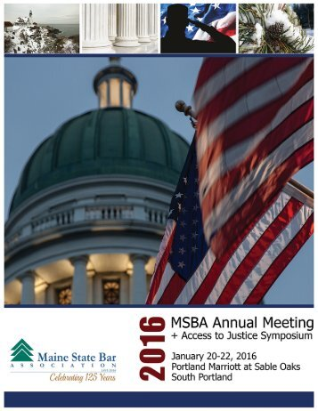 Access to Justice Symposium MSBA 2016 Annual Meeting