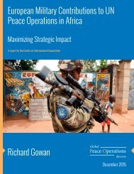 European Military Contributions to UN Peace Operations in Africa Richard Gowan