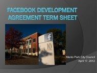 April 17, 2012 DA Term Sheet - the City of Menlo Park