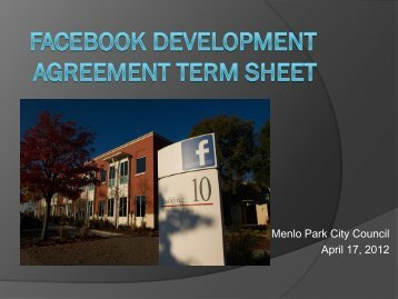 April 17, 2012 DA Term Sheet - the City of Menlo Park