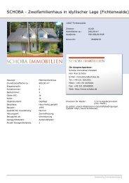 SCHOBA - Zweifamilienhaus in idyllischer Lage (Fichtenwalde)