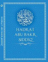 Hadrat Abu Bakr SIDDIQ