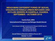 cont'd - Sexual Violence Research Initiative