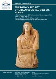 Emergency Red List of Libyan Cultural Objects at Risk