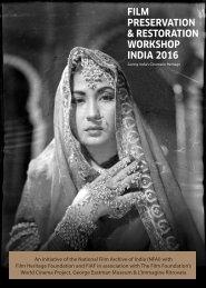 FILM PRESERVATION & RESTORATION WORKSHOP INDIA 2016