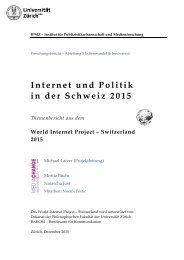Internet und Politik in der Schweiz 2015