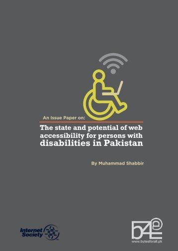 disabilities in Pakistan