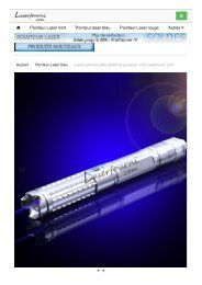 Laser pointeur bleu 5000mw puissant - laserfourni.com