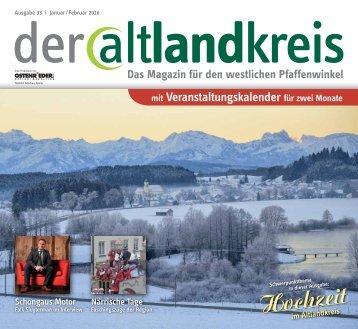 Altlandkreis Ausgabe 33 - Das Magazin für den westlichen Pfaffenwinkel