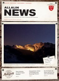 Allalin News Nr. 18 - SAAS-FEE | SAAS-GRUND | SAAS-ALMAGELL | SAAS-BALEN