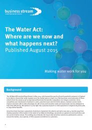 The Water Act Where are we now and what happens next?