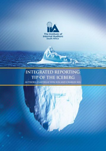 INTEGRATED REPORTING TIP OF THE ICEBERG