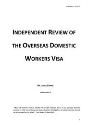 INDEPENDENT REVIEW OVERSEAS DOMESTIC WORKERS VISA