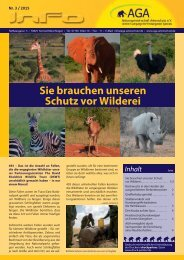 Sie brauchen unseren Schutz vor Wilderei