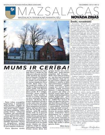 Mazsalacas novada ziņas 12.2015.