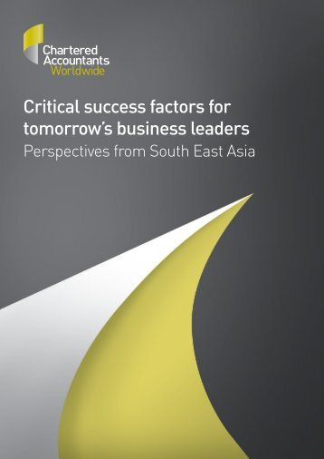 Critical success factors for tomorrow's business leaders