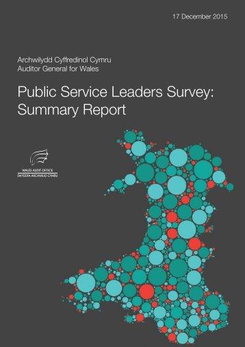 Public Service Leaders Survey Summary Report