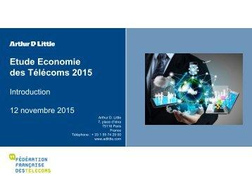 Etude Economie des Télécoms 2015