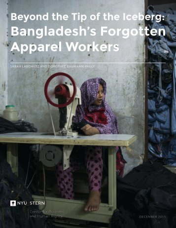 Bangladesh's Forgotten Apparel Workers