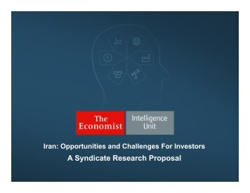 The EIU - Iran Syndicated Research Proposal
