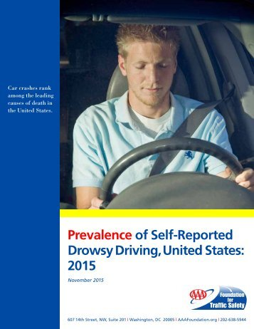 Prevalence of Self-Reported Drowsy Driving United States 2015