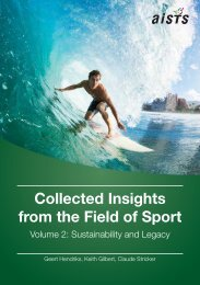 Collected Insights from the Field of Sport