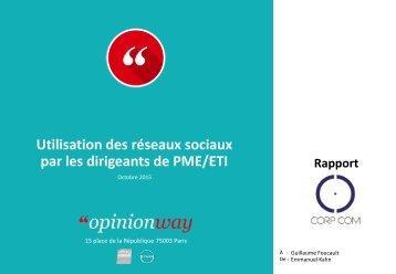 Utilisation des réseaux sociaux par les dirigeants de PME/ETI