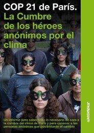 COP 21 de París La Cumbre de los héroes anónimos por el clima