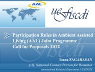 (AAL) Joint Programme Call for Proposals 2012 - uefiscdi