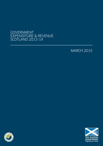 GOVERNMENT EXPENDITURE & REVENUE SCOTLAND 2013-14 MARCH 2015