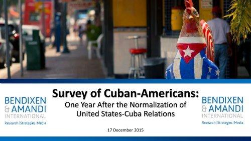 Survey of Cuban-Americans