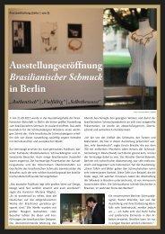 Ausstellungseröffnung Brasilianischer Schmuck in Berlin