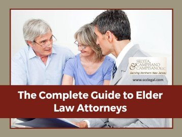 The Role of an Elder Law Attorney
