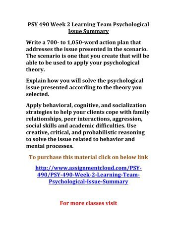 psy 240 week 8 psychological and Social psychology yasmin walls psy 400 october set and settling points brenda mankins psy 240 8/6/2010 from what i to eat or not to eat psy 240 week 4.
