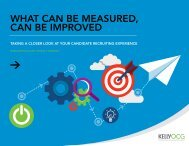 WHAT CAN BE MEASURED CAN BE IMPROVED