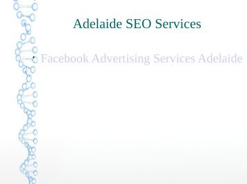 Adelaide Services Facebook Advertising