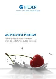 GB Aseptic brochure - Rieger Valve Technology 2016