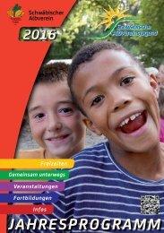 Jahresprogramm Albvereinsjugend 2016