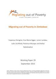 Migrating out of Poverty in Zimbabwe