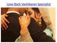 Love Back Vashikaran Specialist