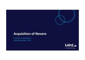 Acquisition of Novero