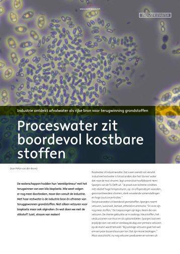 Proceswater zit boordevol kostbare stoffen