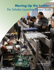 Moving Up the Ladder Per Scholas Launches Project Scale