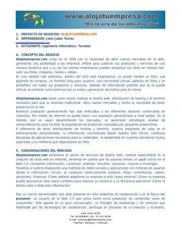 Resumen del proyecto Alojatuempresa